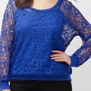 BMWT Blue Crochet Sweatshirt